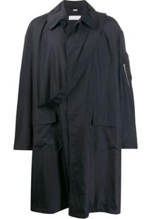 Random Identities Trench Coat Oversized - Azul