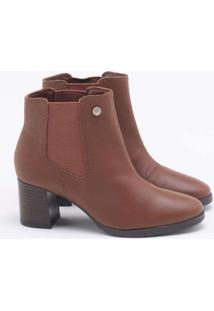 Ankle Boot Cravo & Canela Crystal Marrom