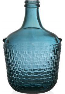Garrafa Decorativa Em Vidro Azul Colonial 12 Litros