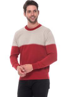 Blusa Passion Tricot Ff Bicolor Vermelho