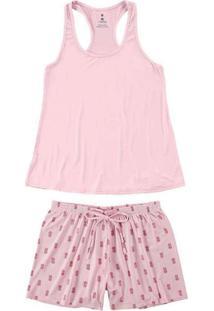 Pijama Feminino Curto Malwee 1000084453 01274-Rosa