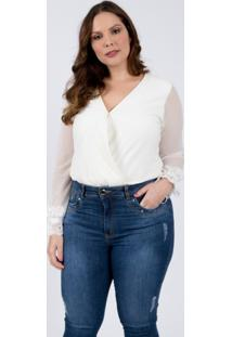 Body Almaria Plus Size Lady More Malha Off White