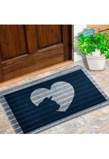 Capacho Carpet Love Cat Azul