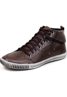 Tênis Tchwm Shoes Zíper Marrom