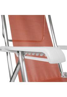 Cadeira Reclinável Alumínio 8 Posições Coral Mor