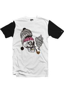 Camiseta The Garage Custom Tees Skull Cachimbo