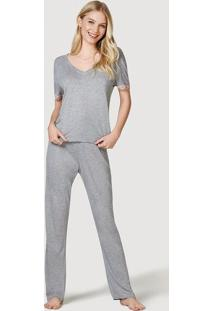 Pijama Feminino Com Calça