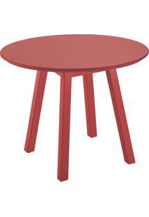 Mesa Lateral Tramontina Baixa Oval 91453/051 Vermelho Se
