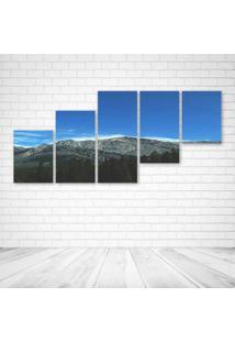 Quadro Decorativo - Mountains (2) - Composto De 5 Quadros - Multicolorido - Dafiti