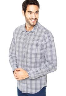 Camisa Richards Bolso Xadrez Branca