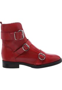 Coturno Buckle Straps Red | Schutz
