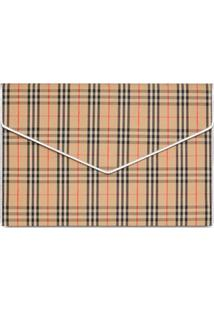 Burberry Clutch Envelope Xadrez Grande - Neutro
