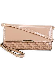 Carteira Luxcel Mini Bag Feminina - Feminino-Bege