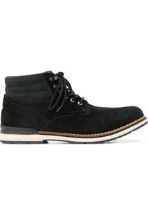 Tommy Hilfiger Ankle Boot 'Outdoor' De Couro - Preto