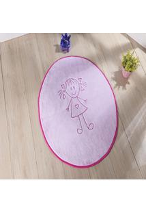 Tapete Formato Feltro Antiderrapante Helena Rosa - Multicolorido - Dafiti