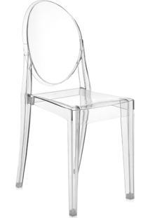 Cadeira Sophia Louis Ghost Em Policarbonato Sem Braços Transparente Incolor