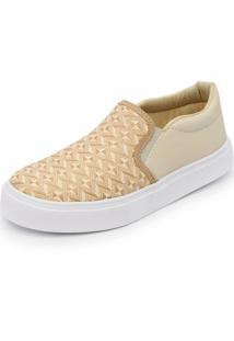 Sapatilha Slip On Ec Shoes Bege