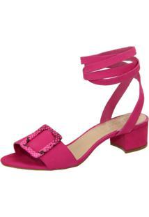 Sandalia Clave De Fa Amarração Pink