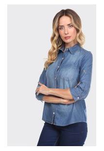 Camisa Adulto Azul Jeans - Thipton - P