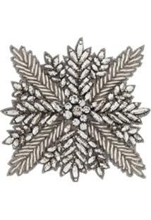 Haider Ackermann Broche Floco De Neve Com Cristal - Metálico