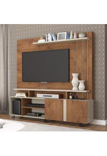 Estante Home Para Tv Até 47 Polegadas 2 Portas Valência Permobili Savana/Off White