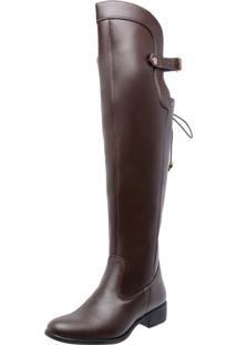 Bota Over Knee Mega Boots 977 Café