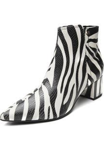 Bota Couro Jorge Bischoff Zebra Branca