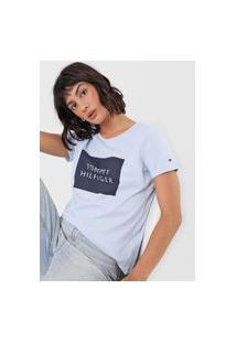 Camiseta Tommy Hilfiger Lettering Azul
