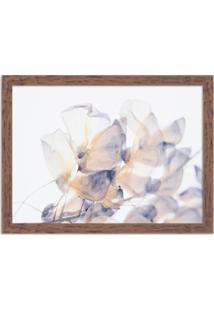 Quadro Decorativo Primavera Flores Brancas Madeira - Médio