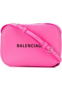 Balenciaga Camera Bag Everyday Xs De Couro - Rosa