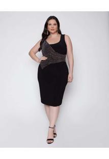 Vestido Almaria Plus Size Pianeta Curto De Malha P