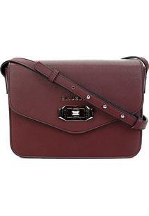 Bolsa Ellus Flap Crossbody Bag Military Feminina - Feminino-Vinho