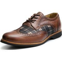 Sapato Social Shoes Grand Chess Tamanho Especial Chocolate e14fa2f0f3d7e