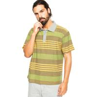 Camisa Polo Quiksilver Slim Fit Coastal Amarelo Verde 49417a54e354c