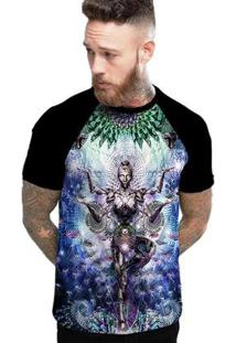 Camiseta Stompy Raglan Modelo 19 Masculina - Masculino-Preto