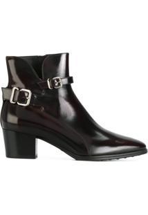 Tod'S Ankle Boot De Couro - Vermelho