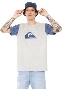 Camiseta Quiksilver And W Bico Cinza/Azul