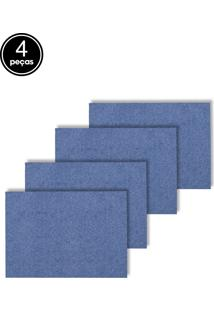 Jogo Americano 4Pçs Próxima Textil Liso Azul