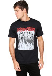 Camiseta Fiveblu Manga Curta Domination Preta