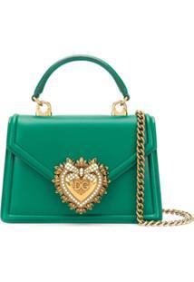 Dolce & Gabbana Bolsa Tote Com Detalhe De Coração - Verde
