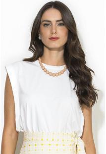 Blusa Sem Manga Branco