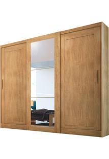 Guarda-Roupa Suécia Com Espelho - 3 Portas - 100% Mdf - Imbuia