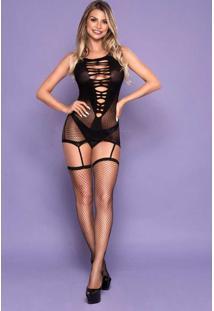 Micro Vestido Com Ligas E Meias 3643 Yaffa