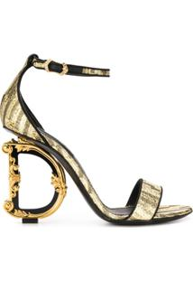 Dolce & Gabbana Sandália Com Salto Baroque D&G - Dourado