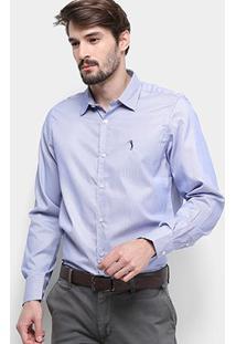 Camisa Aleatory Slim Fit Masculina - Masculino-Lilás