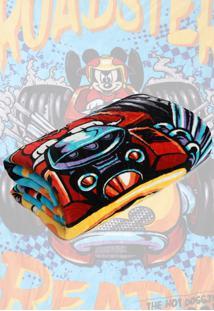 Cobertor Solteiro Lepper Mickey Dupla Face Azul 1,55 X 2,20