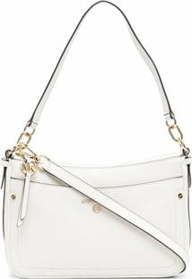 Michael Michael Kors Jet Set Leather Shoulder Bag - Branco