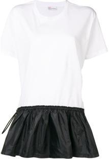 Red Valentino Vestido T-Shirt Monogramado - Branco