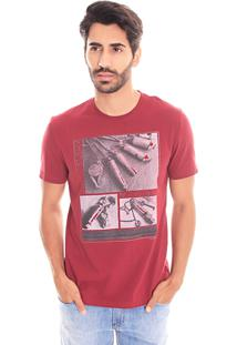 Camiseta Convicto Estampada Bordo