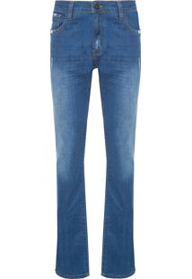 Calça Masculina Straight Romenia 3D - Azul